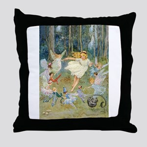 dancing in the fairy Throw Pillow