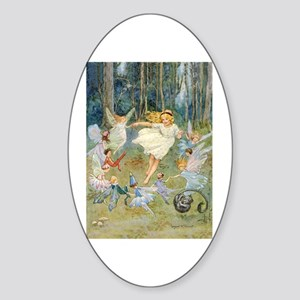 dancing in the fairy Sticker (Oval)