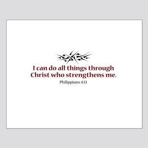 Philippians 4:13 Small Poster