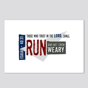 Run and not grow weary Postcards (Package of 8)