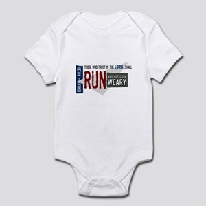 Run and not grow weary Infant Bodysuit