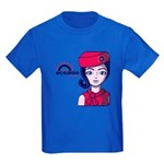 Flight 815 Stewardess Kids Dark T-Shirt