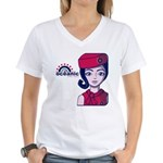 Flight 815 Stewardess Women's V-Neck T-Shirt