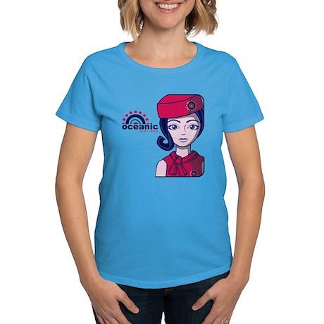 Flight 815 Stewardess Women's Dark T-Shirt