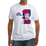 Flight 815 Stewardess Fitted T-Shirt