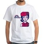 Flight 815 Stewardess White T-Shirt