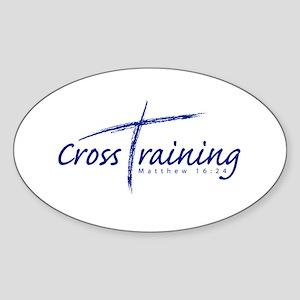 Cross Training Oval Sticker