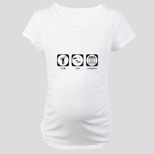 Gym Tan Laundry Maternity T-Shirt