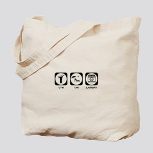 Gym Tan Laundry Tote Bag