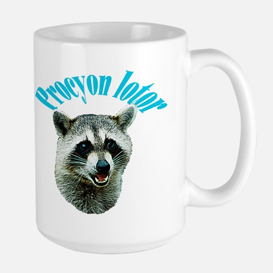 Shy Raccoon Picture Large Mug