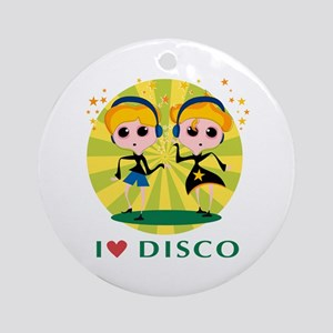 I Love Disco Ornament (Round)