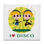 I Love Disco Tile Coaster