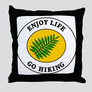 Enjoy Life Go Hiking Throw Pillow