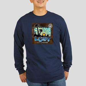 Lost 'Vintage' Long Sleeve Dark T-Shirt