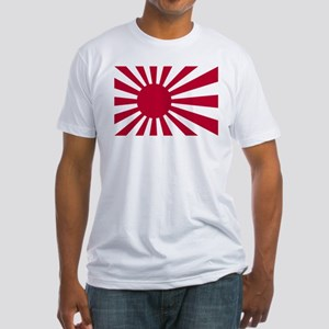 Japanese Rising Sun Flag Fitted T-Shirt
