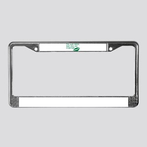 Kiss me anyway License Plate Frame