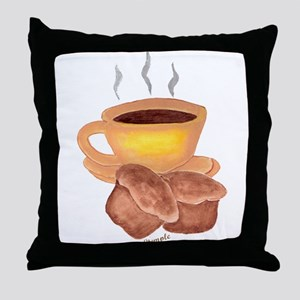 COFFEE AND MUFFINS Throw Pillow
