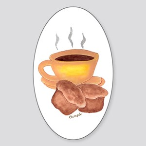 COFFEE AND MUFFINS Oval Sticker