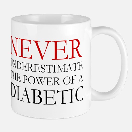 Never Underestimate... Diabetic Mug