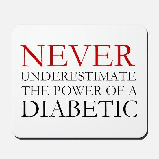 Never Underestimate... Diabetic Mousepad