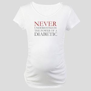 Never Underestimate... Diabetic Maternity T-Shirt