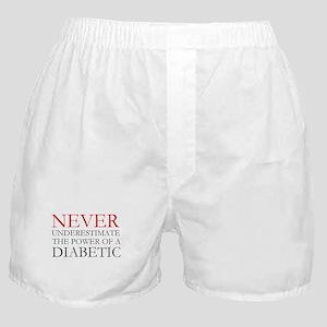 Never Underestimate... Diabetic Boxer Shorts