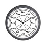 Months Of The Year Curious Wall Clock