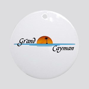 Grand Cayman Sunset Ornament (Round)