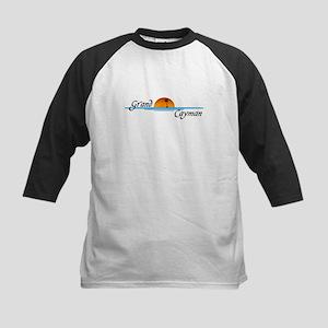 Grand Cayman Sunset Kids Baseball Jersey