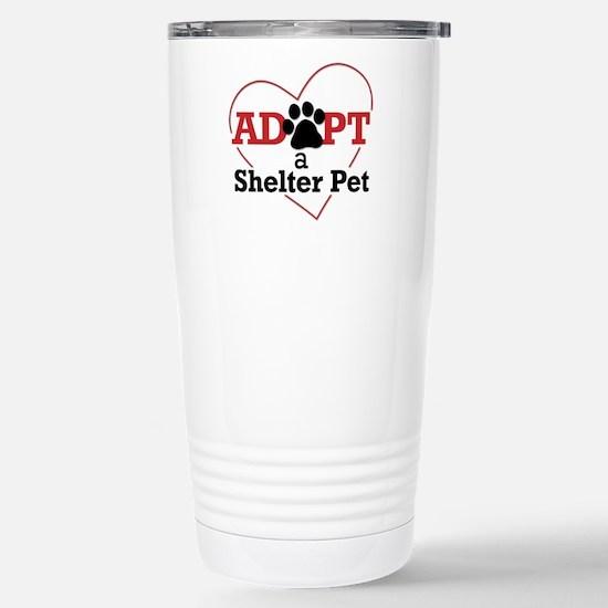 Adopt a Shelter Pet Stainless Steel Travel Mug