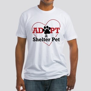 Adopt a Shelter Pet Fitted T-Shirt