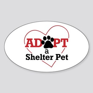 Adopt a Shelter Pet Sticker (Oval)