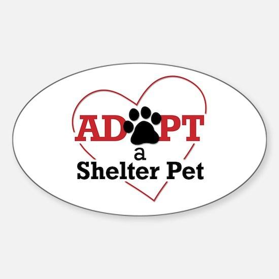 Adopt a Shelter Pet Sticker (Oval)