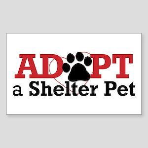 Adopt a Shelter Pet Sticker (Rectangle)