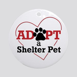 Adopt a Shelter Pet Ornament (Round)