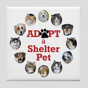 Adopt a Shelter Pet Tile Coaster