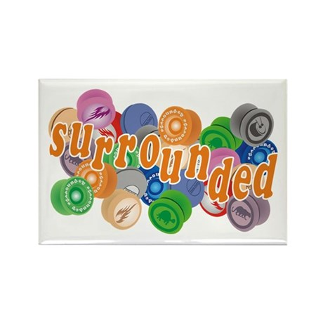 Surrounded by Yo-Yos Rectangle Magnet (10 pack)