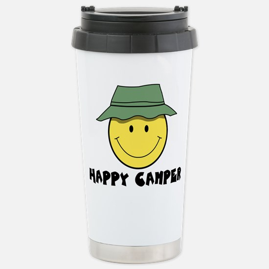 Happy Camper camping Stainless Steel Travel Mug