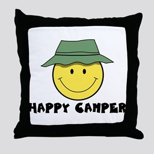 Happy Camper camping Throw Pillow