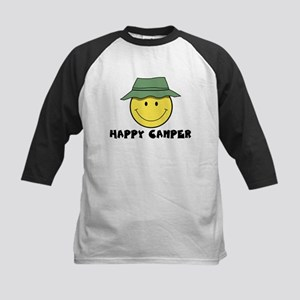 Happy Camper camping Kids Baseball Jersey