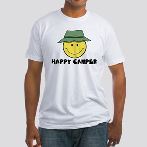 Happy Camper camping Fitted T-Shirt