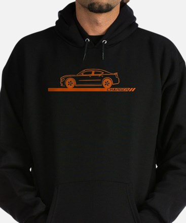 2005-10 Charger Orange Car Hoodie (dark)