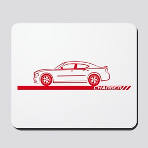 2005-10 Charger Red Car Mousepad