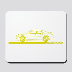 2005-10 Charger Yellow Car Mousepad