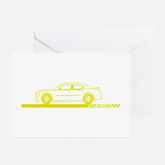 2005-10 Charger Yellow Car Greeting Card