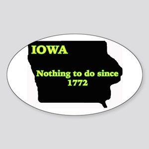 Iowan Oval Sticker