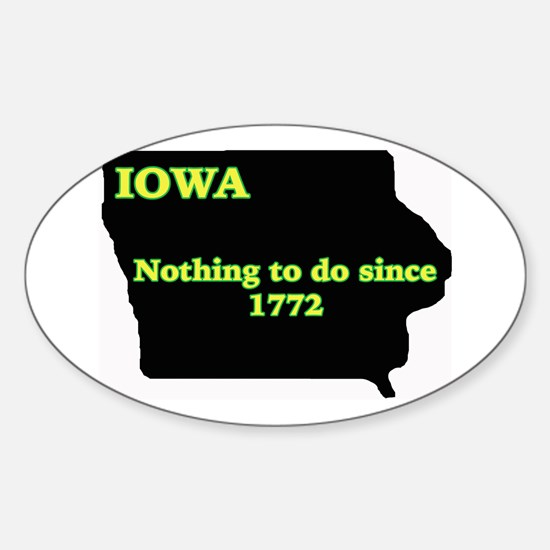 Iowan Oval Decal