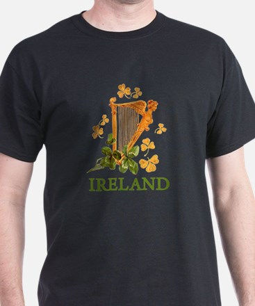 Ireland - Golden Irish Harp T-Shirt