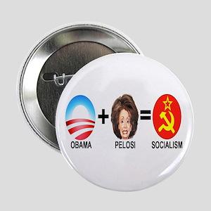 "Anti Obama Pelosi Button 2.25"" (single)"