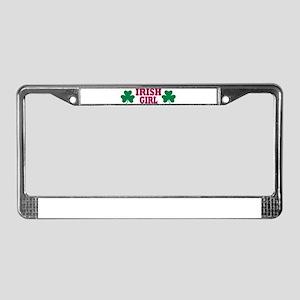 Irish girl License Plate Frame